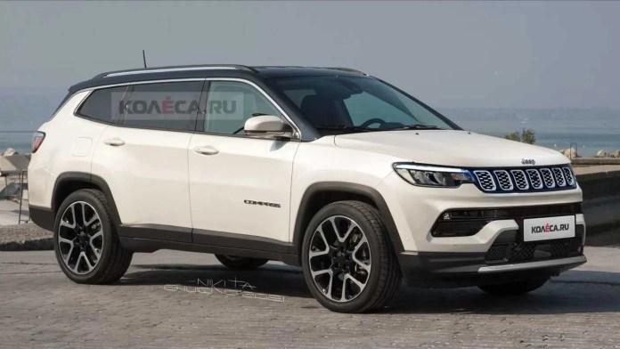 Nuova Jeep Compass 2022, la 7 posti in Rendering