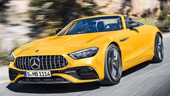 Nuova Mercedes-Benz SL 2021, la sportiva in Rendering