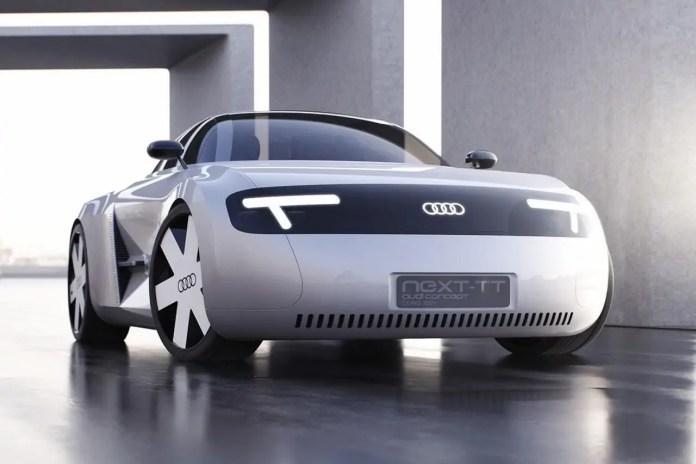 Nuova Audi TT 2023, il Rendering della versione 100% elettrica