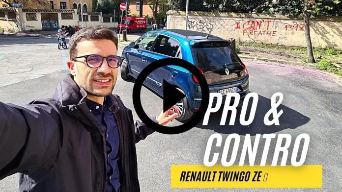 PRO✔ & CONTRO❌ di Renault Twingo ZE elettrica [VIDEO]