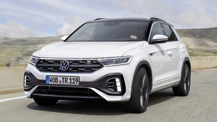 Nuova Volkswagen T-Roc 2022, il Rendering dal prossimo Restyling