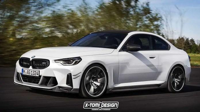 Nuova BMW M2 2022, il Rendering in Anteprima