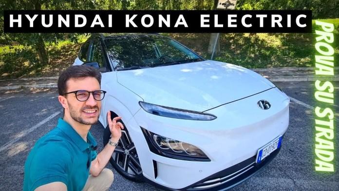 Prova su strada dellla Hyundai Kona Electric da 64kWh e 204CV. La top di gamma cu accompagna in città ma anche fuori grazie all'autonomia di 484km