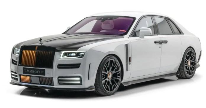 Mansory modifica la Rolls-Royce Ghost 2021, foto e dati tecnici