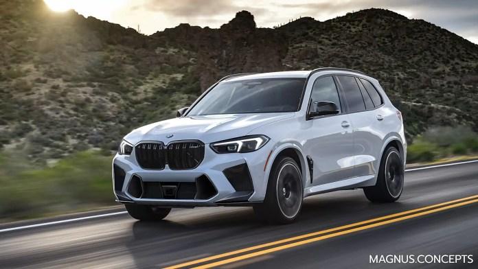 Nuova BMW M5 2023, il Rendering del Restyling
