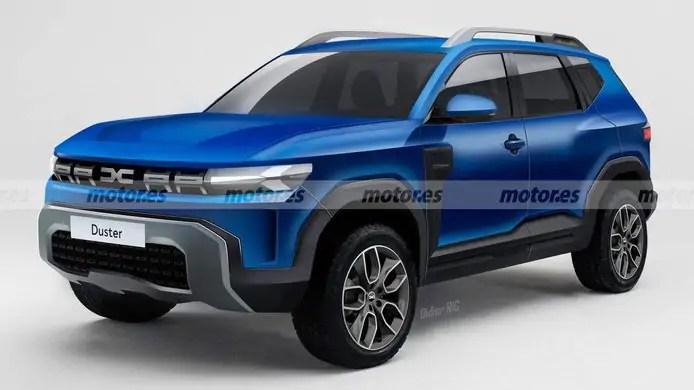 Nuova Dacia Duster 2024, il Rendering del SUV ibrido E-Tech