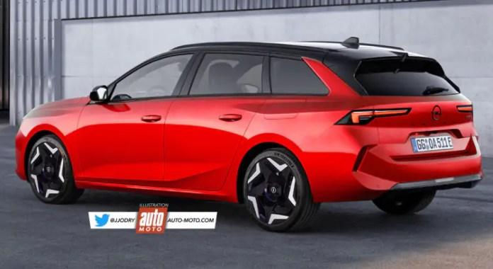 Nuova Opel Astra Sports Tourer 2022, Rendering e Anticipazioni