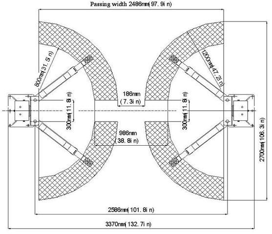 Lifts: 235SB 2 Post Lift 3.5T
