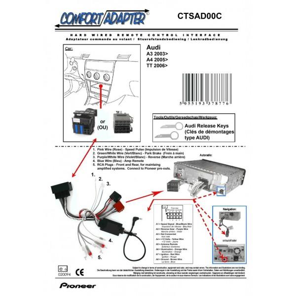 PIONEER CTSAD00C Interface Commande au Volant AUDI à