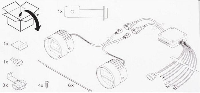 Feux antibrouillard LED + DRL lumière feux de jour LED