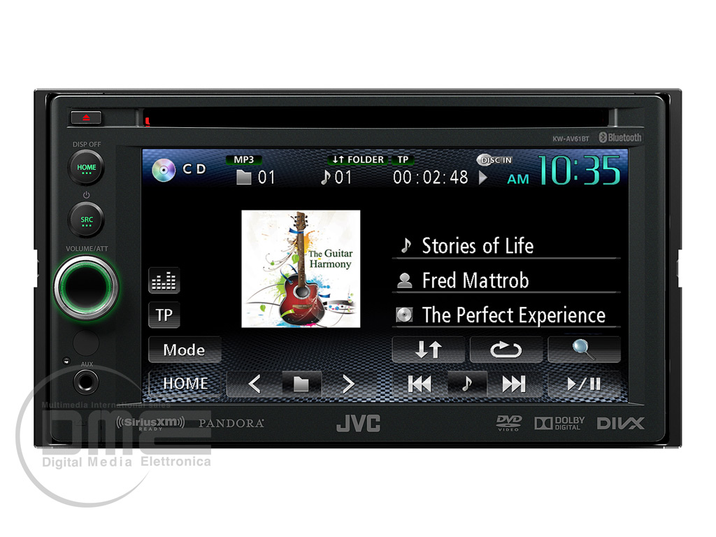 hight resolution of jvc kw av61bt autoradio 2din 6 2 estraibile touchscreen dvd usb ipod bluetooth