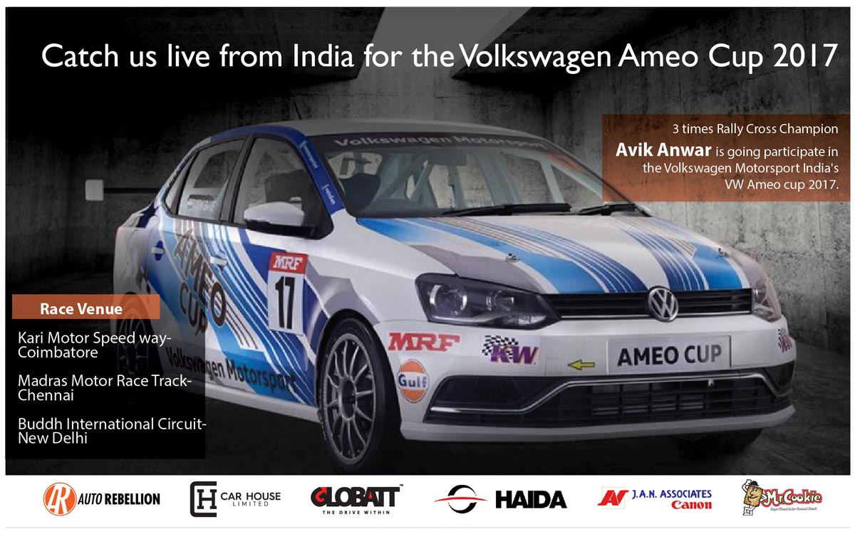 We are ready for the volkswagen ameo cup india 2017cup auto rebellion