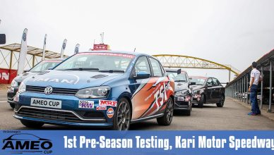 Volkswagen Motorsport India Ameo Cup 2017 Pre Season Test 1
