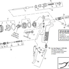 Devilbiss Spray Gun Parts Diagram 69 Mustang Heater Wiring Gti Gravity Feed Millenium