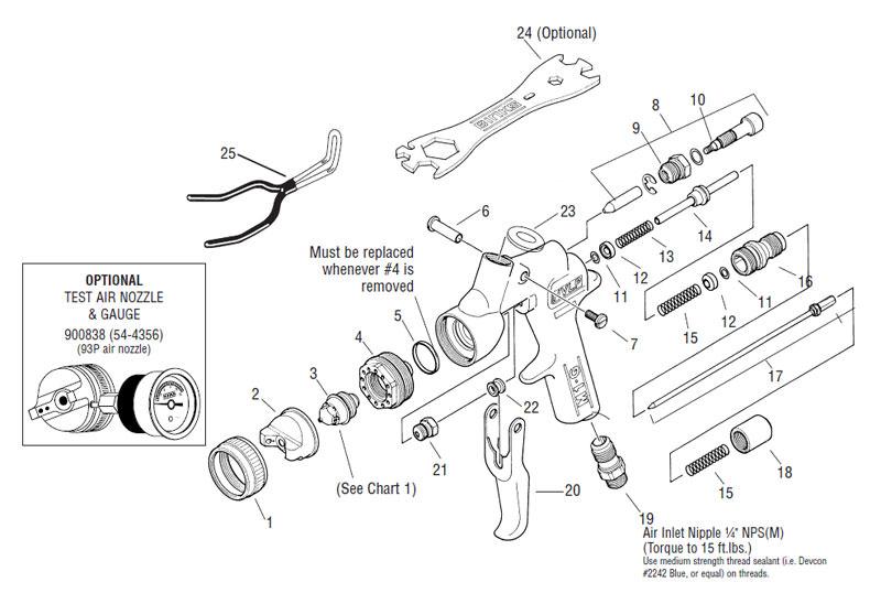 Binks Model 7 Repair Parts
