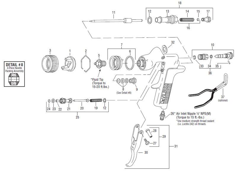 devilbiss spray gun parts diagram home wiring diagrams light switch pri hvlp gravity feed view