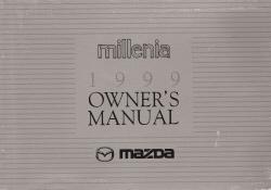 1999 Mazda Millenia Owner's Manual