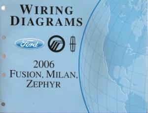 2006 Ford Fusion, Mercury Milan & Lincoln Zephyr  Wiring Diagrams