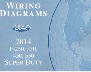 2014 Ford F250, F350, F450, F550 Truck Factory Wiring
