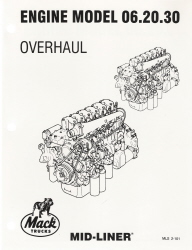 Mack Truck Engine Model 06.20.30 Overhaul Manual