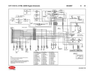 Caterpillar C10  C12, 3176B, 3406E Engine Wiring Diagram