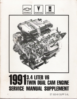 1991 Chevrolet 3.4 Liter V6 Twin Dual Cam Engine Manual