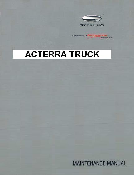 Sterling Acterra Factory Maintenance Manual