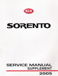2005 Kia Sorento Factory Service Manual Supplement
