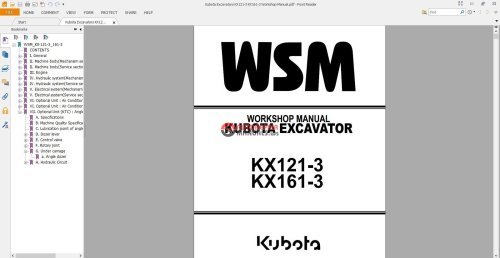 small resolution of kubota excavators kx121 3 kx161 3 workshop manual jpg