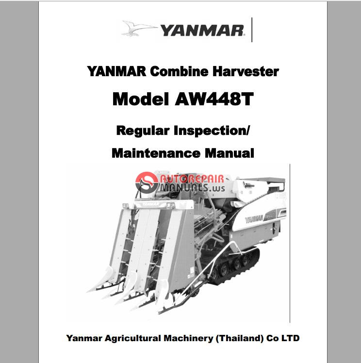 YANMAR Combine Harvester Model AW448T Regular Inspection