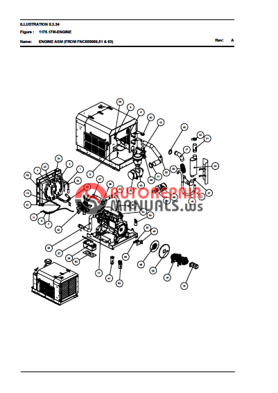 TEREX J1175 JAW CRUSHER PARTS MANUAL / SCHEMATIC ELEC