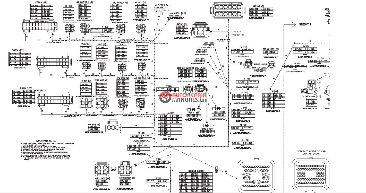 wiring diagram moreover jcb backhoe wiring diagram as well as jcb 214