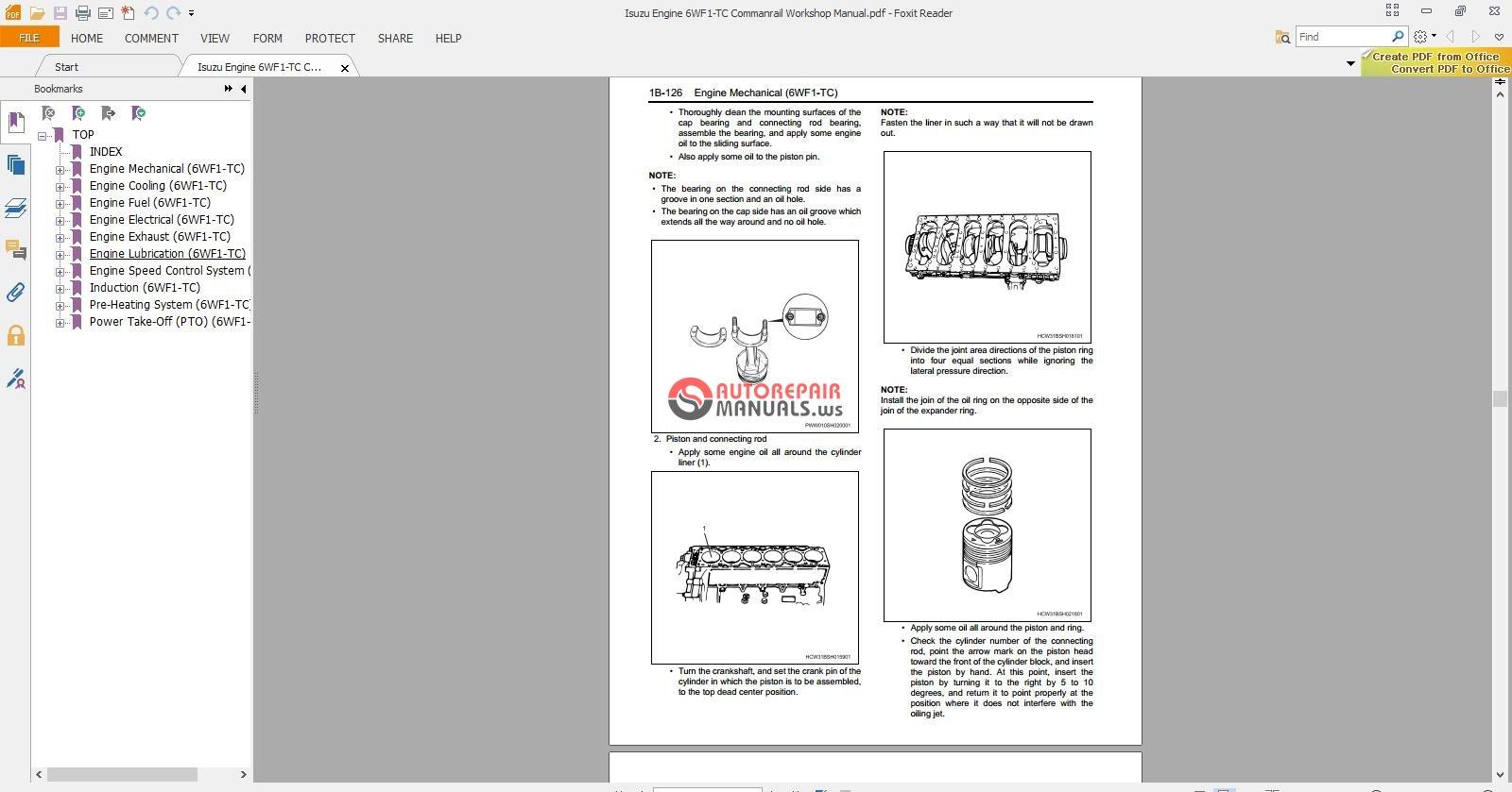 hight resolution of  isuzu engine 6wf1 tc commanrail workshop manual 3 jpg