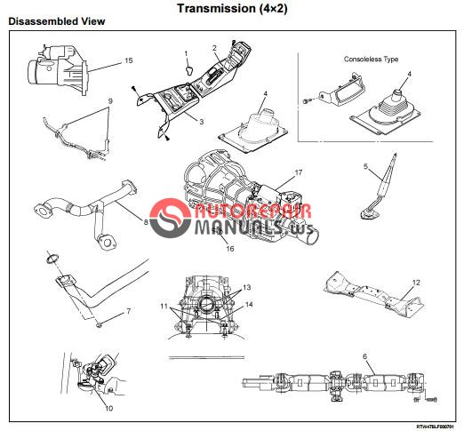 Isuzu TF Series MANUAL TRANSMISSION (MUA MODELS) Workshop