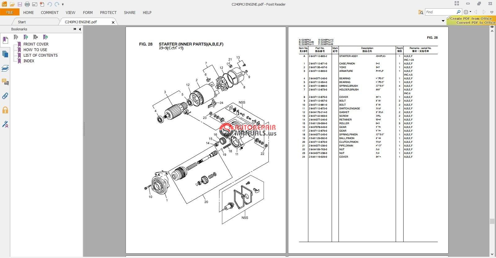 Komatsu Forklift Wiring Diagrams Schematics Fb13m