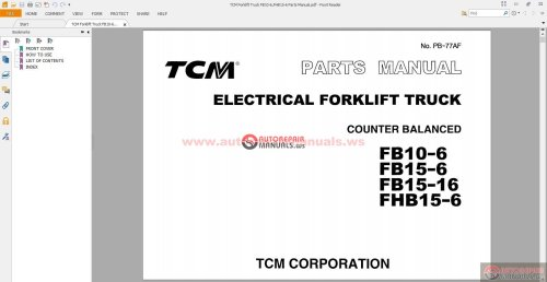 small resolution of tcm forklift distributor wiring diagram wiring librarytcm forklift truck fb10 6 fhb15 6 parts manual