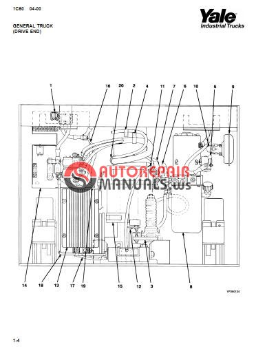 Yale Electric For Model MLW-040-060 (B828) Parts Manual