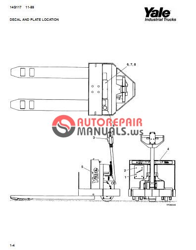 Yale Electric For Model MPW 045 D (A802) Parts Manual