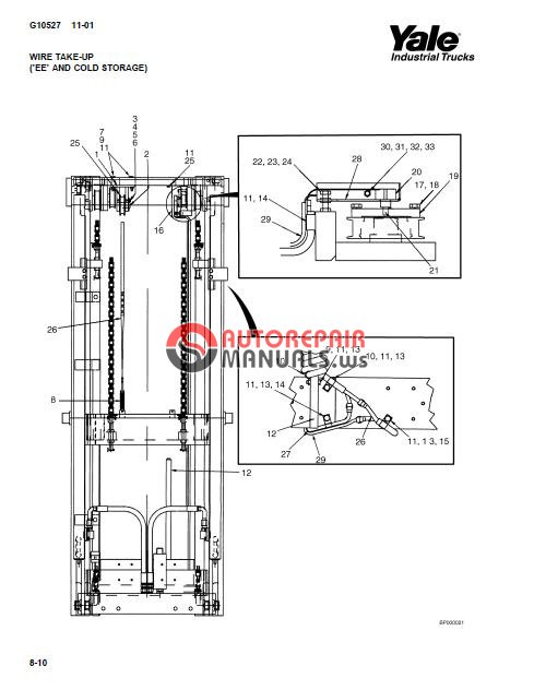 Yale Electric For Model OS-EC-030 (C801) Parts Manual