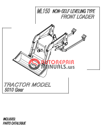 Mahindra Tractor 10 Series Front Loader ML150 Parts Manual