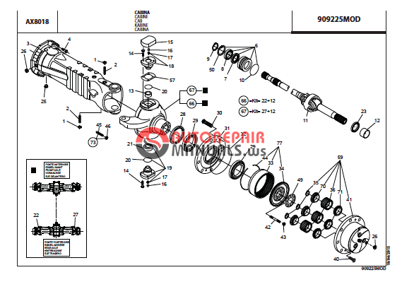 MANITOU TELESCOPICO MRT2540 / MRT-X2540 + PRIVILEGE PARTS
