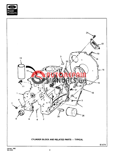 Ford Diesel Engine bsd-444 & 444t 268 cid ie0-194-240a