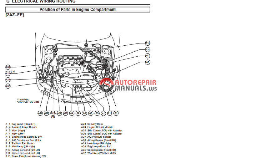 toyota camry 2007 electrical wiring routing auto repair manual