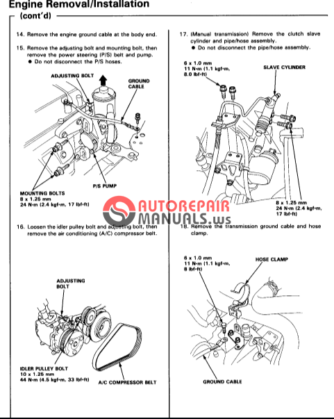 Honda 416i Integra Workshop Manual Download