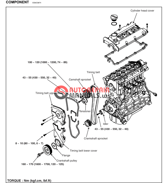 [Free download] Hyundai Coupe Workshop Manual (Engine G4GC