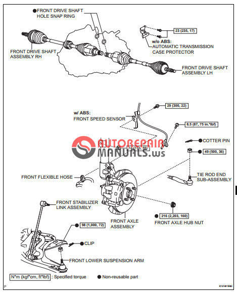 [Free download] Toyota Yaric Repair Manuals (Drive shaft