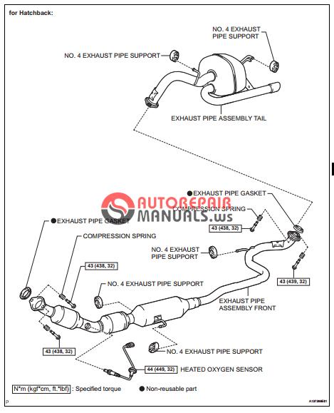 [Free download] Toyota Yaric Repair Manuals (Exhaust pipe