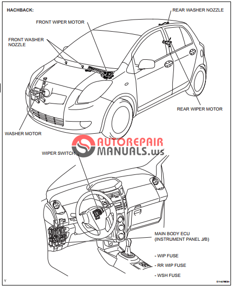 [Free download] Toyota Yaric Repair Manuals (Wiper and