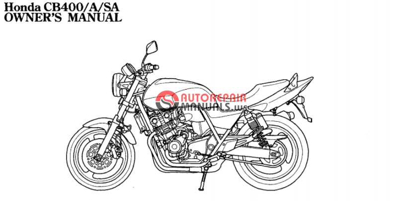 [Free download] 2008 Honda CB400 A/SA Oweners manuals