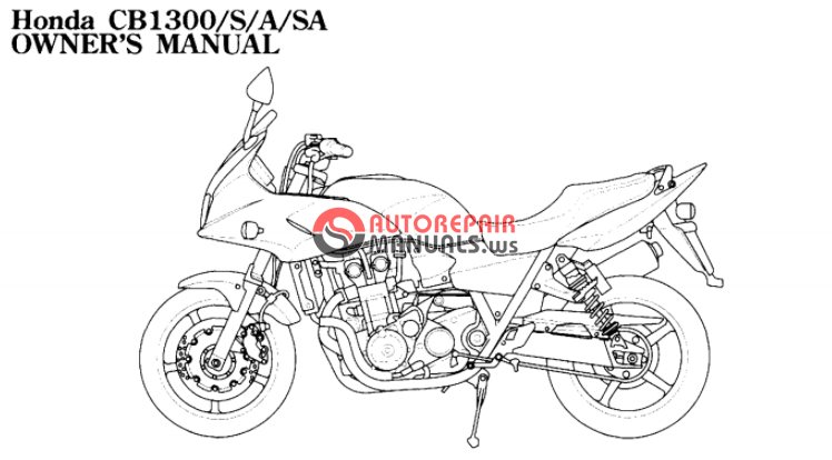 [Free download] 2005 Honda CB1300/S/A/SA Oweners manuals
